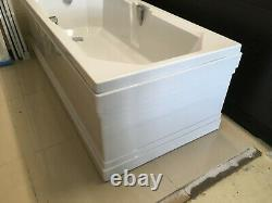 Carron Highgate bath 1800x800 complete with L shape panel and push button pop up