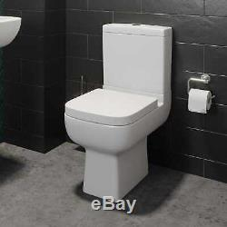 Complete 1600 L Shaped Bathroom Suite Close Coupled Toilet Vanity Unit Taps Grey