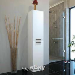 Complete Bathroom Cloakroom Patello Gloss white Storage Vanity Unit Suite Option