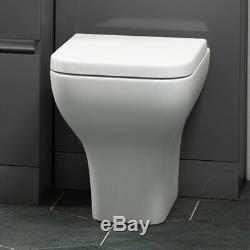 Complete Bathroom Pemberton L Shape RH Suite with Grey Vanity Basin Toilet Unit