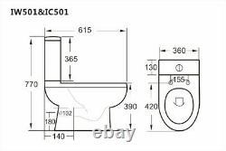 Complete Bathroom Suite 1700 LH/RH P Shape Bath Basin Pedestal Toilet Shower Tap