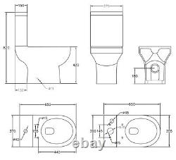 Complete Bathroom Suite 1700 LH/RH P Shape Bath Basin Pedestal Toilet Tap Shower