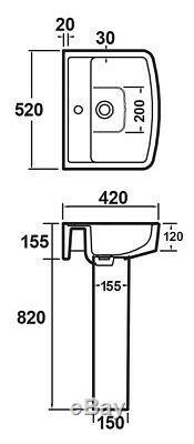 Complete Bathroom Suite L Shape Shower Bath, Toilet, Basin Taps, Wastes Set