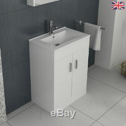 Complete Bathroom Suite L Shape Shower Bath Vanity Unit Basin Furniture Toilet