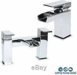 Complete Bathroom Suite L Shaped 1600mm LH Bath Basin Vanity Unit WC Shower Taps