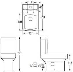 Complete Bathroom Suite L Shaped LH Bath Basin Vanity Unit Toilet Shower Taps