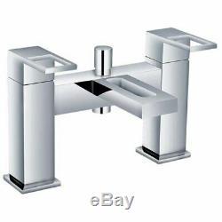 Complete Bathroom Suite L Shaped Shower Bath Screen Right Left + Toilet + Basin