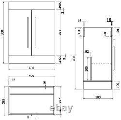 Complete Bathroom Suite LH/RH 1600 L Shape Bath Screen Basin Vanity Unit Toilet