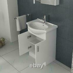 Complete Bathroom Suite Right Hand L Shape Bath Vanity Unit Basin Toilet Pan