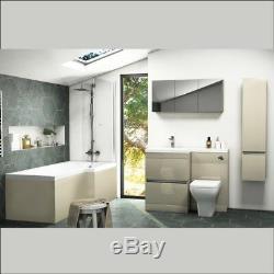 Complete Gold Cloakroom Pemberton L Shape RH Suite with Vanity Sink Toilet Unit