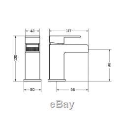 Complete L Shaped Bathroom Suite 600 Basin unit Shower Screen Bath Panel Tap