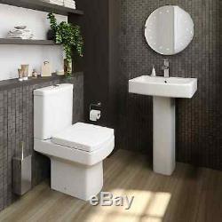 Complete L Shaped Bathroom Suite Close Coupled Toilet Basin RH Bath Screen Taps