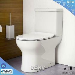 Complete P Shaped Bathroom Suite Shower RIMLESS WC Toilet Vanity Unit Bath Taps