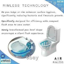 Complete P Shaped LH Bathroom Suite Shower RIMLESS Toilet Vanity Unit Bath Taps