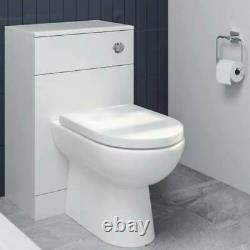 Complete Toilet Essence Gloss Concealed Cistern Unit & D-Shaped Toilet