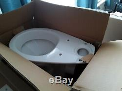 Complete White J shaped Bathroom Suite