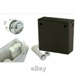Complete bathroom suite L shaped bath RH toilet sink vanity unit tap black brown