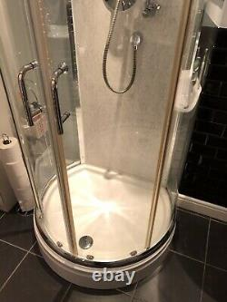 D shaped shower Cubicle Enclosure With Complete 10kw Mira Electric Shower
