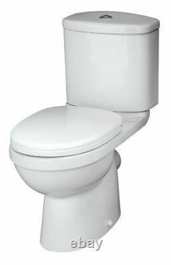 L Shaped Bath RH, Complete Bathroom, 500mm Vanity, Shower, Toilet, Screen, Taps