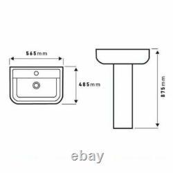L Shaped Left Hand Complete Bathroom Suite Toilet Vanity Unit Basin Bath Tap Set