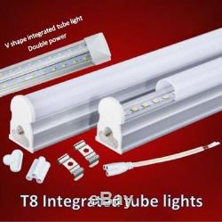 LED Integrated T8 Tube light, all size, complete fitting+8 double sided connector