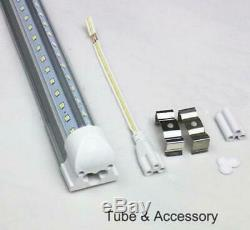 LED Integrated Tube Light T8 (1,2,3,4)ft complete fitting+ 8 2 sided connetor