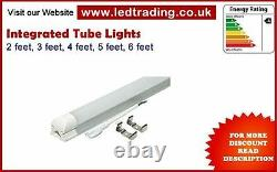 LED Integrated Tube Light T8 5ft/6ft, slim ceiling light complete with fitting