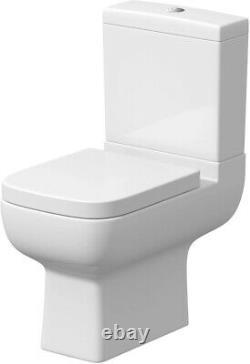 Modern Bathroom Complete Suite LH/RH L Shape Bath Basin Vanity Toilet Tap Shower