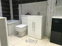Modern L-Shaped Bathroom (Toilet) And Complete Set
