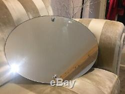 Oval Shaped Bathroom Mirror 50cm X 40cm Complete With Fittings