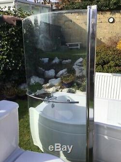 P Shape Left Hand Complete Bathroom Suite Toilet Basin & Ped Basin Bath Tap Set