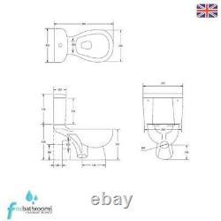 P Shape Right Hand Complete Bathroom Suite Toilet Vanity Unit Basin Bath Tap Set