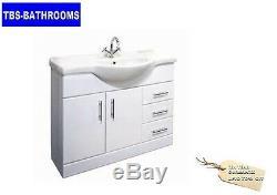 P Shaped Bath Suite Complete Set, Vanity Basin, Close Coupled Toilet & Taps etc