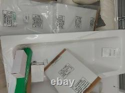 P shaped bath 1700 complete set including screen