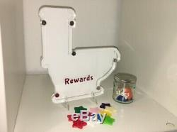 Personlised Reward Chart/Jar Toilet Shape. Comes Complete With Jar And Stars