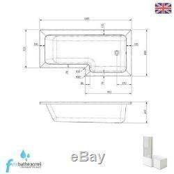 Right Hand L Shape Complete Bathroom Suite Vanity Unit Basin Toilet Bath Set