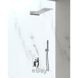Shower Head Wall with Mixer Shower 2 Ways Complete Kit Shower Steel