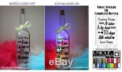 Star Bottle LED Light Up It takes a big heart to shape little minds, personalise