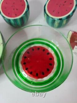 Watermelon Candle & Container Holder Set 6 Complete & 3.5 Half Shape Lot 5 New